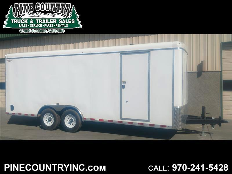 2019 H&H H10120RTCH-140 8.5x20 14K Enclosed Ramp Door