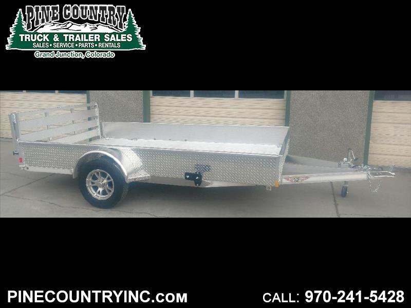 2019 H&H H8212SSA-030 7X12 Aluminum Utility Trailer
