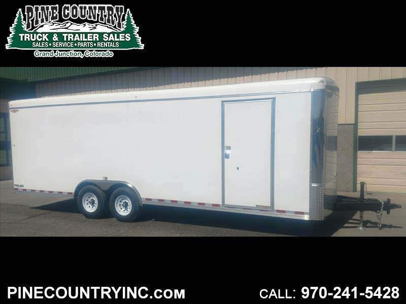 2019 H&H H10124CRCH-140 14K 24 Ft Enclosed Trailer