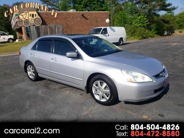 2005 Honda Accord EX V-6 Sedan AT with Navigation System and XM Radi