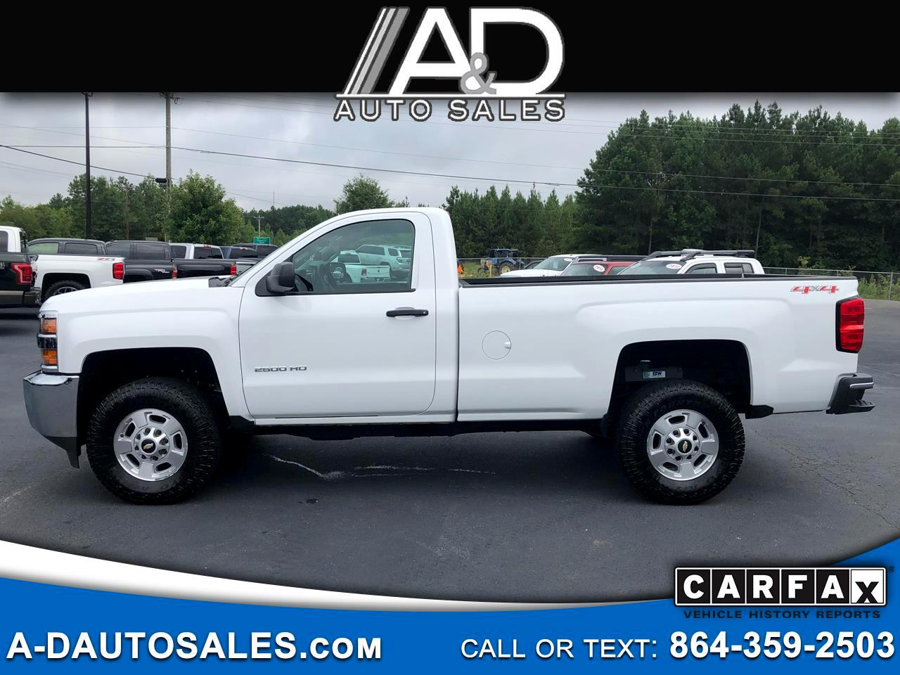 2015 Chevrolet Silverado 2500HD Built After Aug 14 4WD Reg Cab 133.6