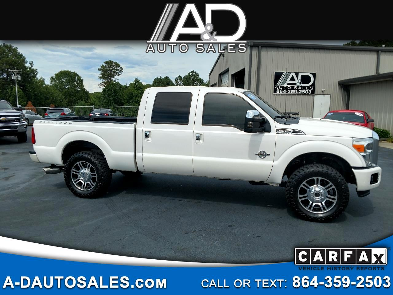 "2014 Ford Super Duty F-350 SRW 4WD Crew Cab 156"" Platinum"