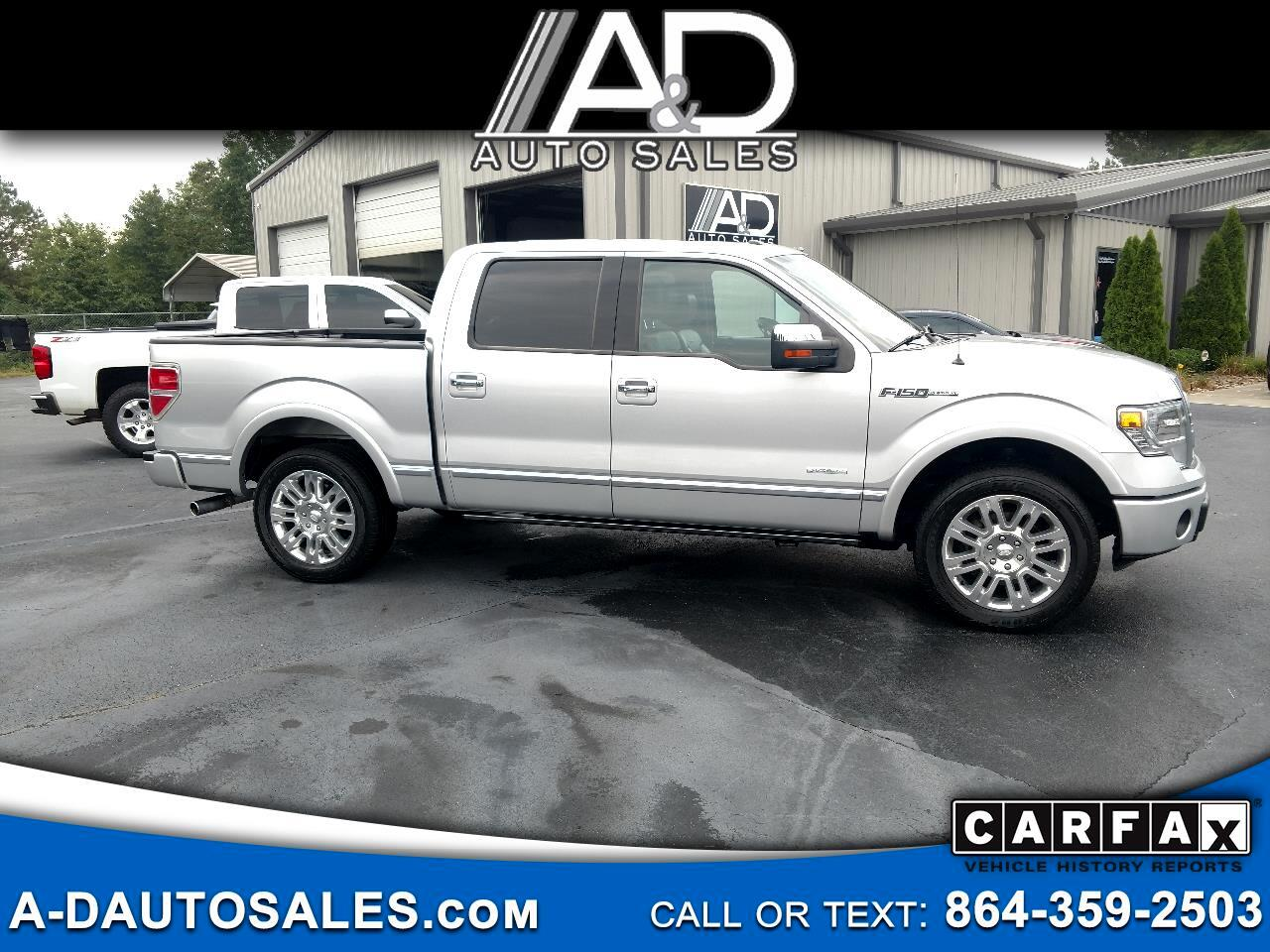 "2013 Ford F-150 2WD SuperCrew 145"" Platinum"