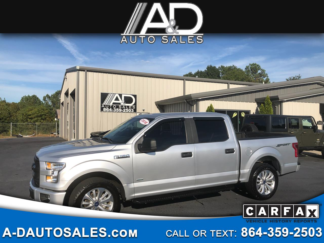 "2016 Ford F-150 2WD SuperCrew 150"" XL"
