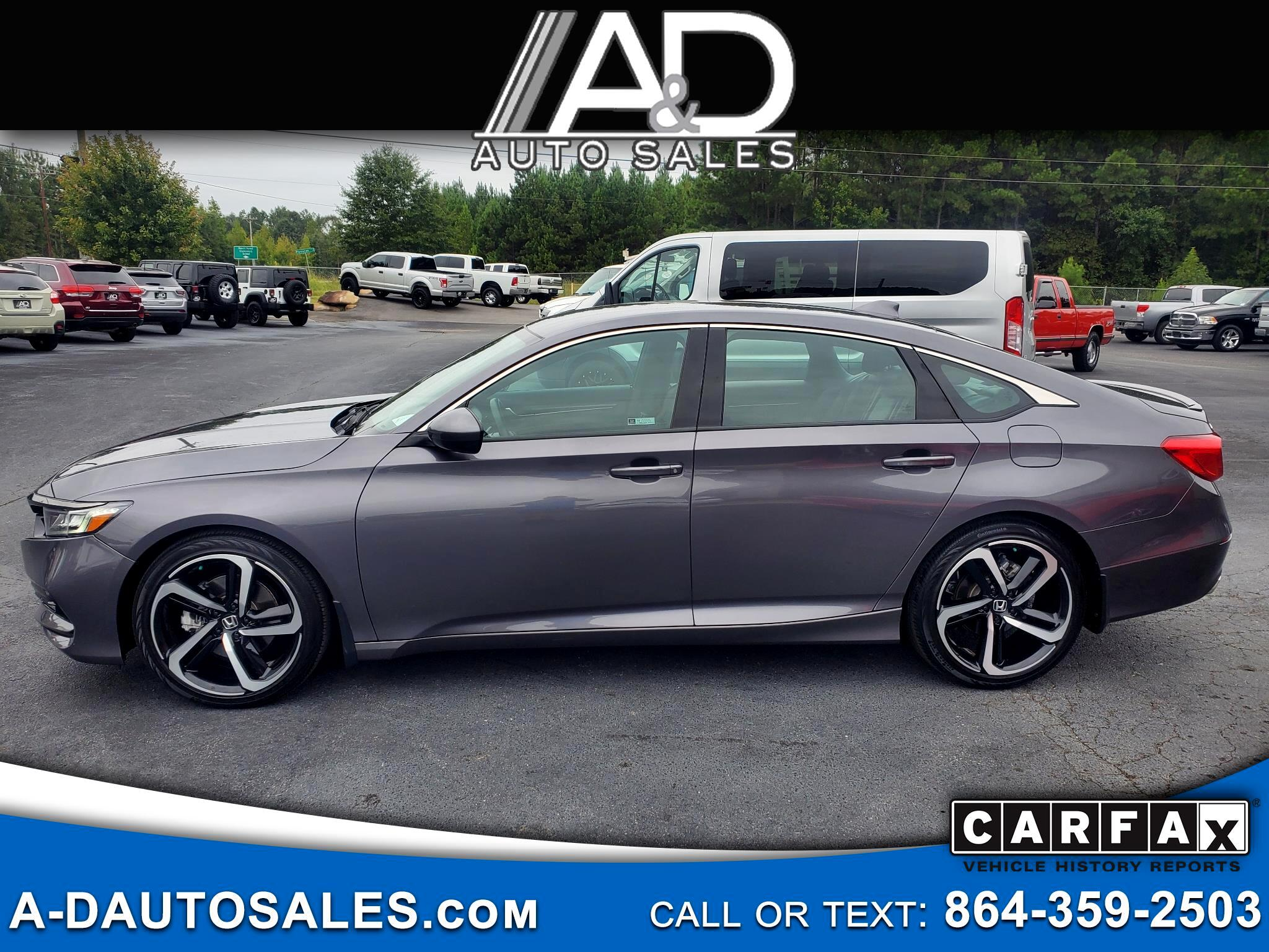 Honda Accord Sdn 4dr I4 Man Sport 2018