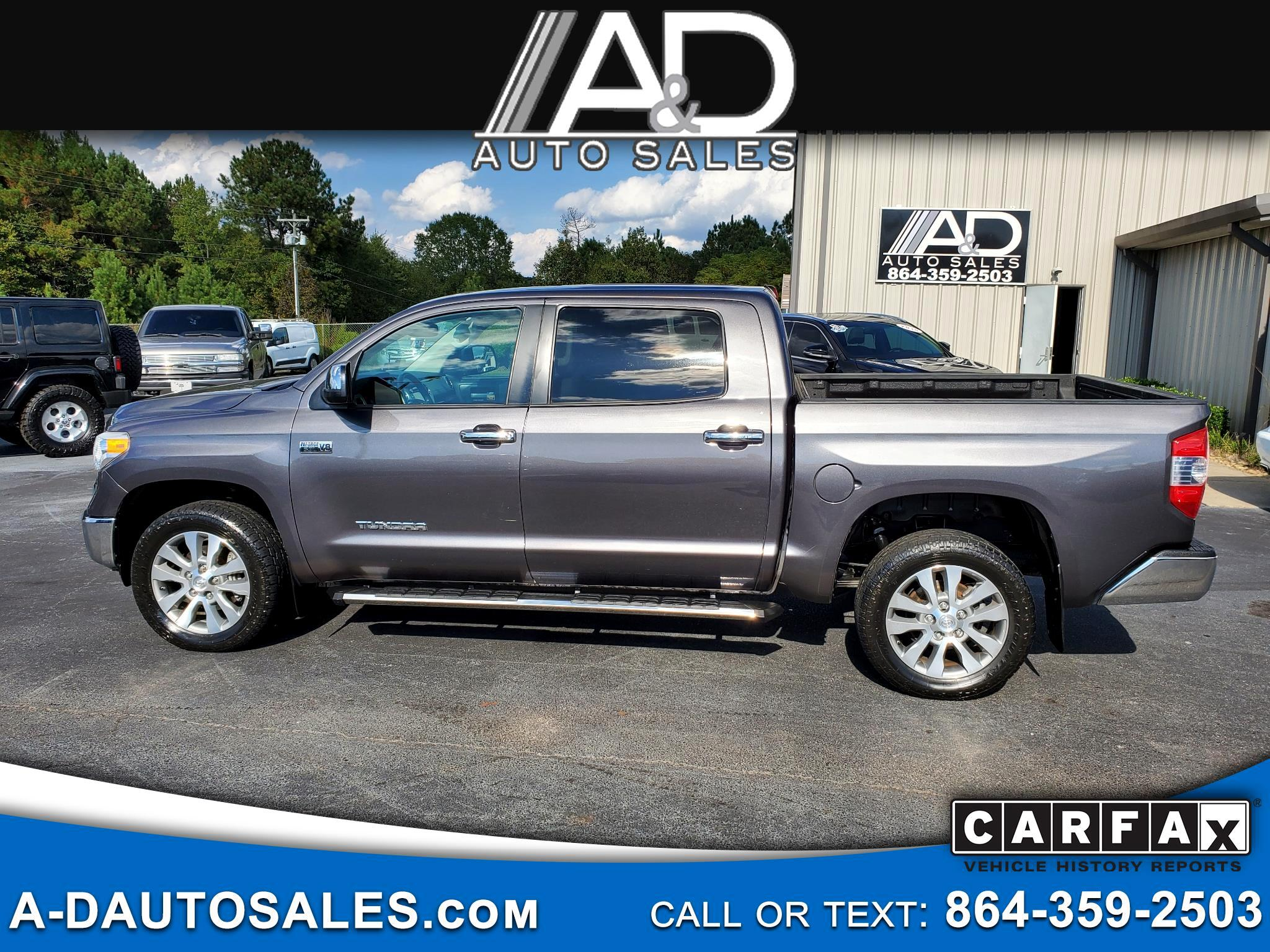 Toyota Tundra 4WD Truck CrewMax 5.7L V8 6-Spd AT LTD (Natl) 2016