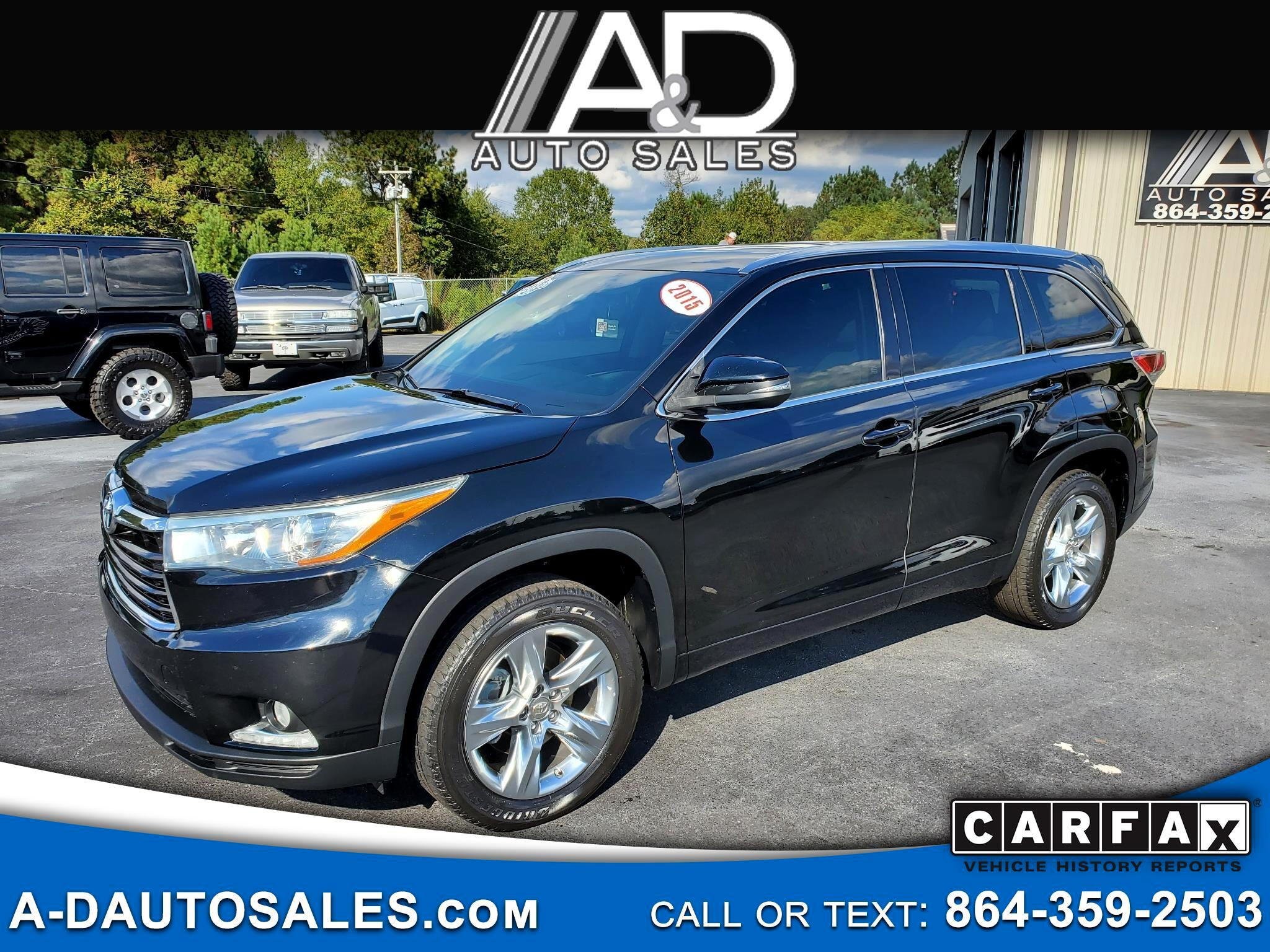 Toyota Highlander 2WD 4dr V6 Limited w/3rd Row (Natl) 2015