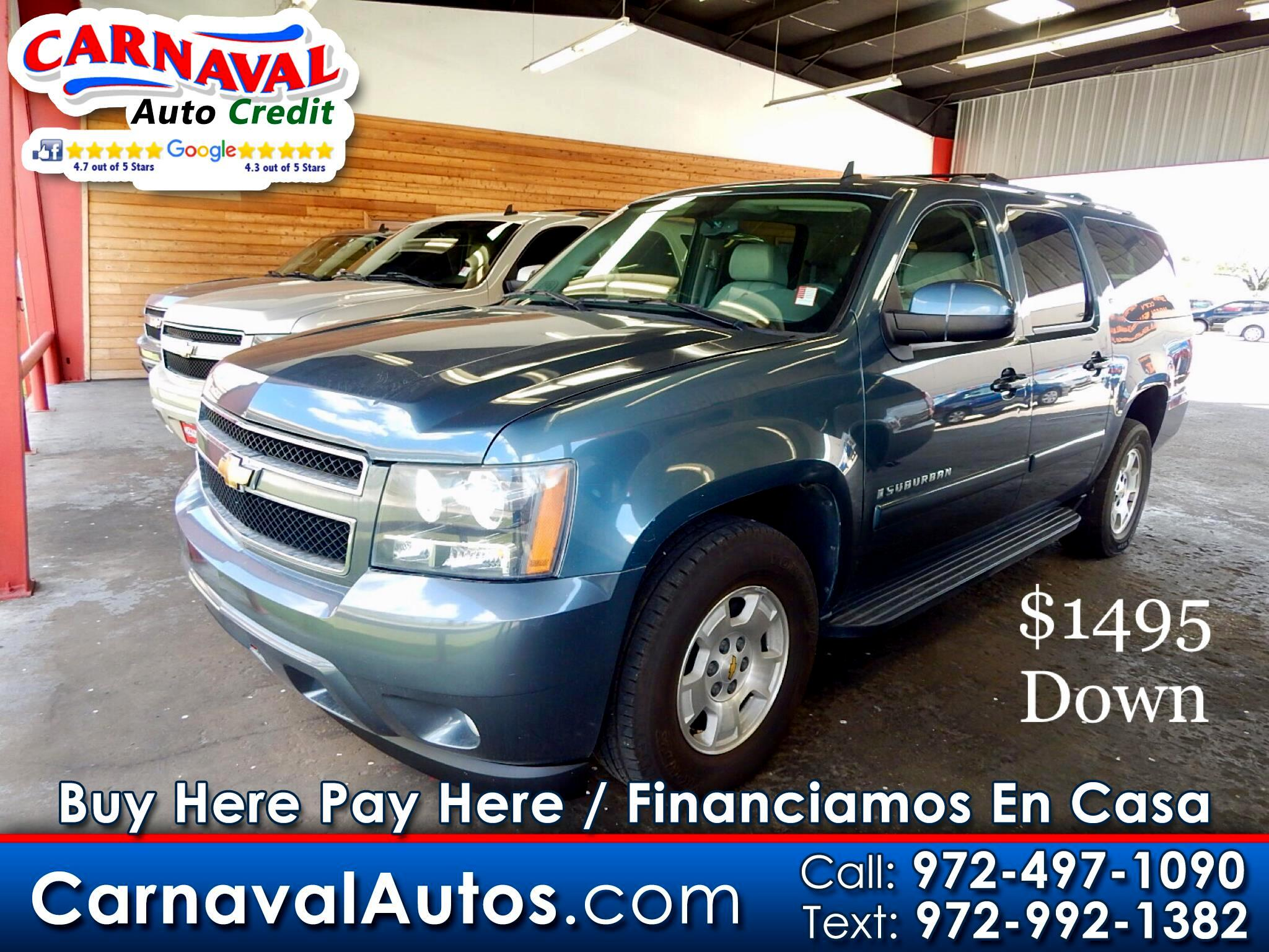 buy here pay here 2008 chevrolet suburban 1500 lt for sale in dallas tx 75229 carnaval auto credit. Black Bedroom Furniture Sets. Home Design Ideas
