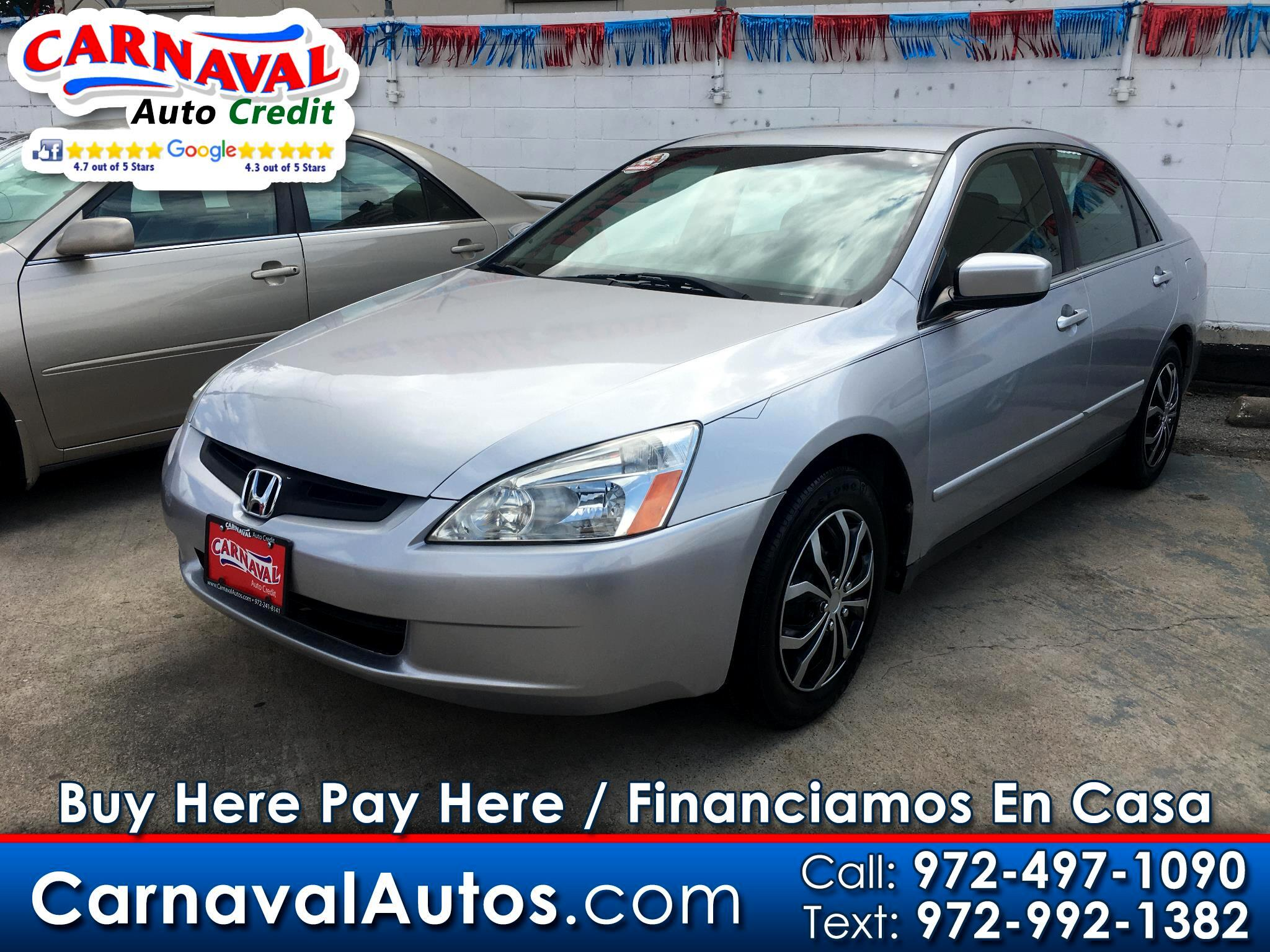 2005 Honda Accord Sdn LX V6 AT