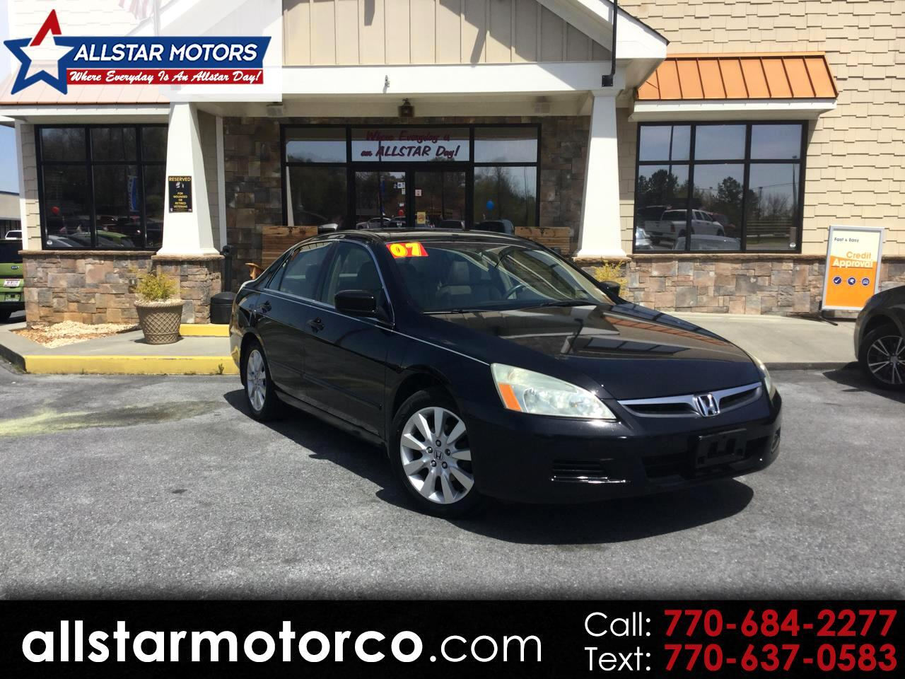 2007 Honda Accord Sdn EX Auto V6 w/Leather/XM