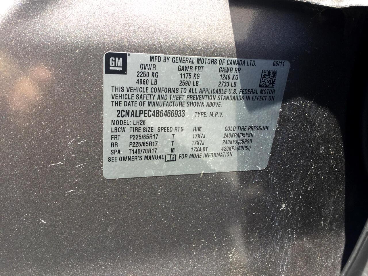 2011 Chevrolet Equinox FWD 4dr LT w/2LT