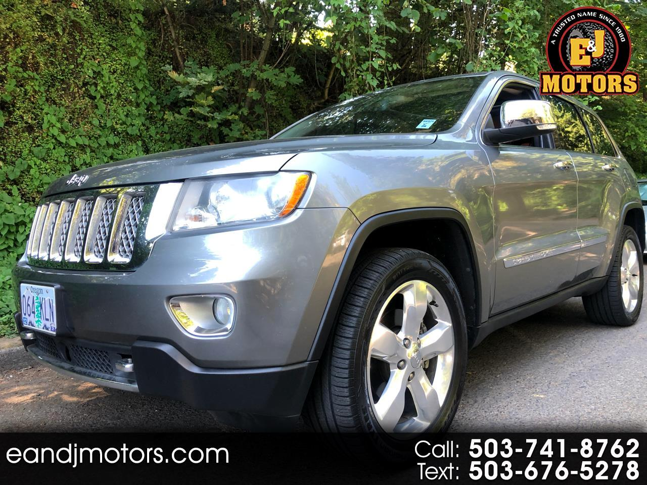 Jeep Grand Cherokee 4WD 4dr Overland Summit 2012