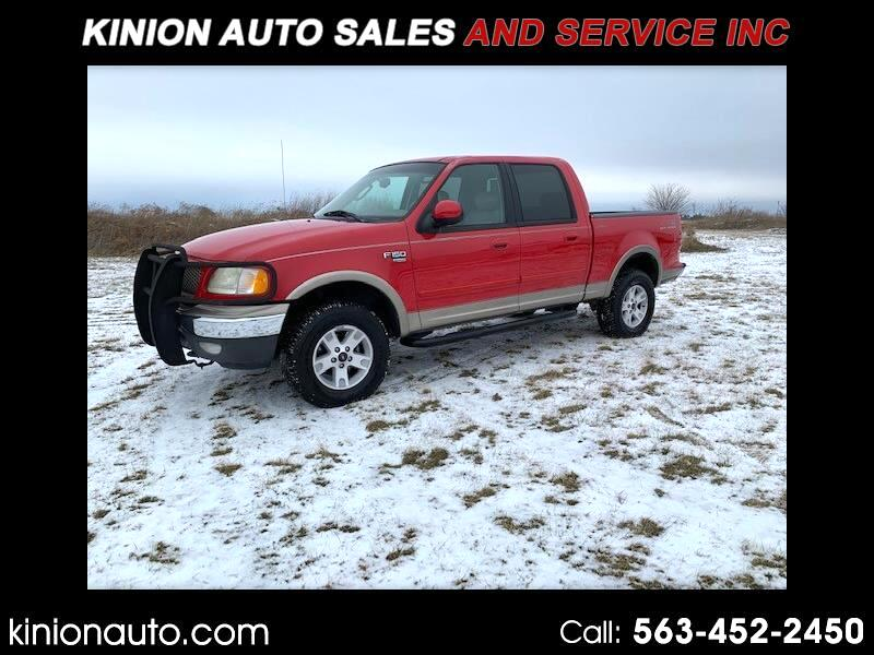 "Ford F-150 4WD SuperCrew 139"" Lariat 2002"