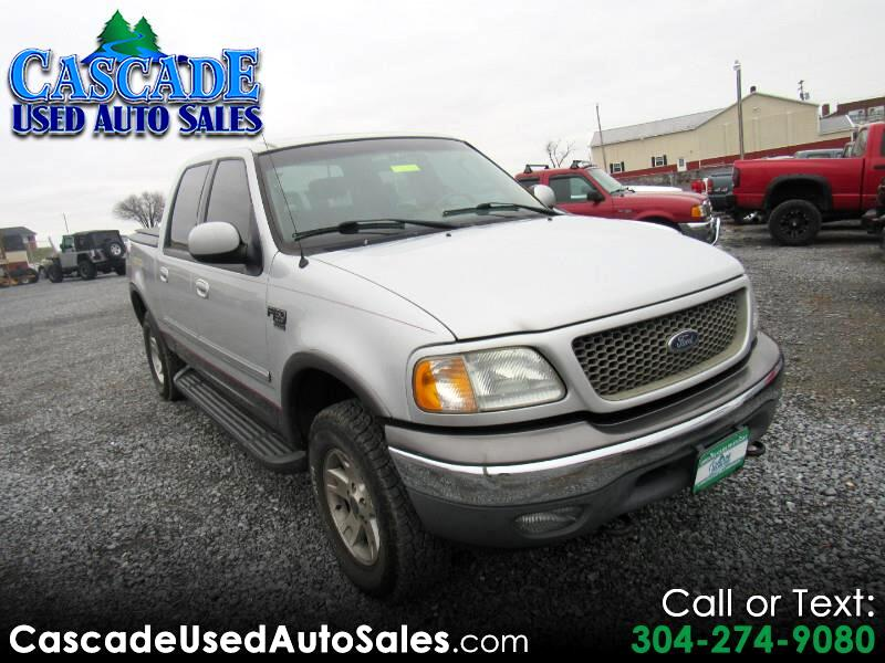 used 2003 ford f 150 xlt supercrew 4wd for sale in martinsburg wv 25404 cascade used auto sales. Black Bedroom Furniture Sets. Home Design Ideas
