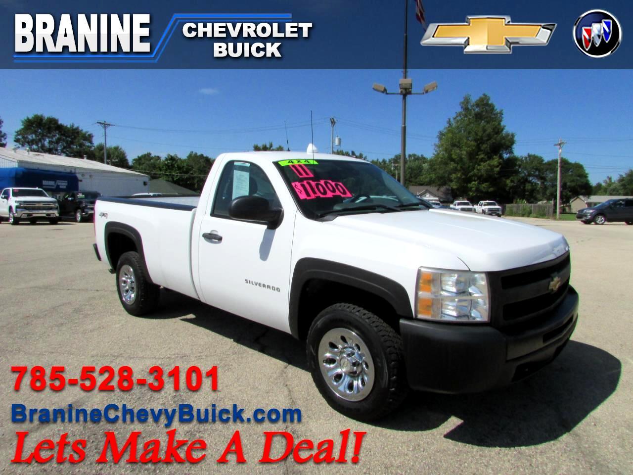"""2011 Chevrolet Silverado 1500 4WD Reg Cab 133.0"""" Work Truck"""