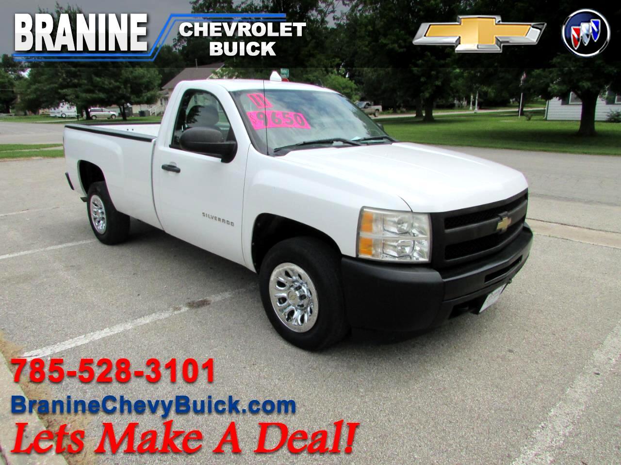 """2011 Chevrolet Silverado 1500 2WD Reg Cab 133.0"""" Work Truck"""