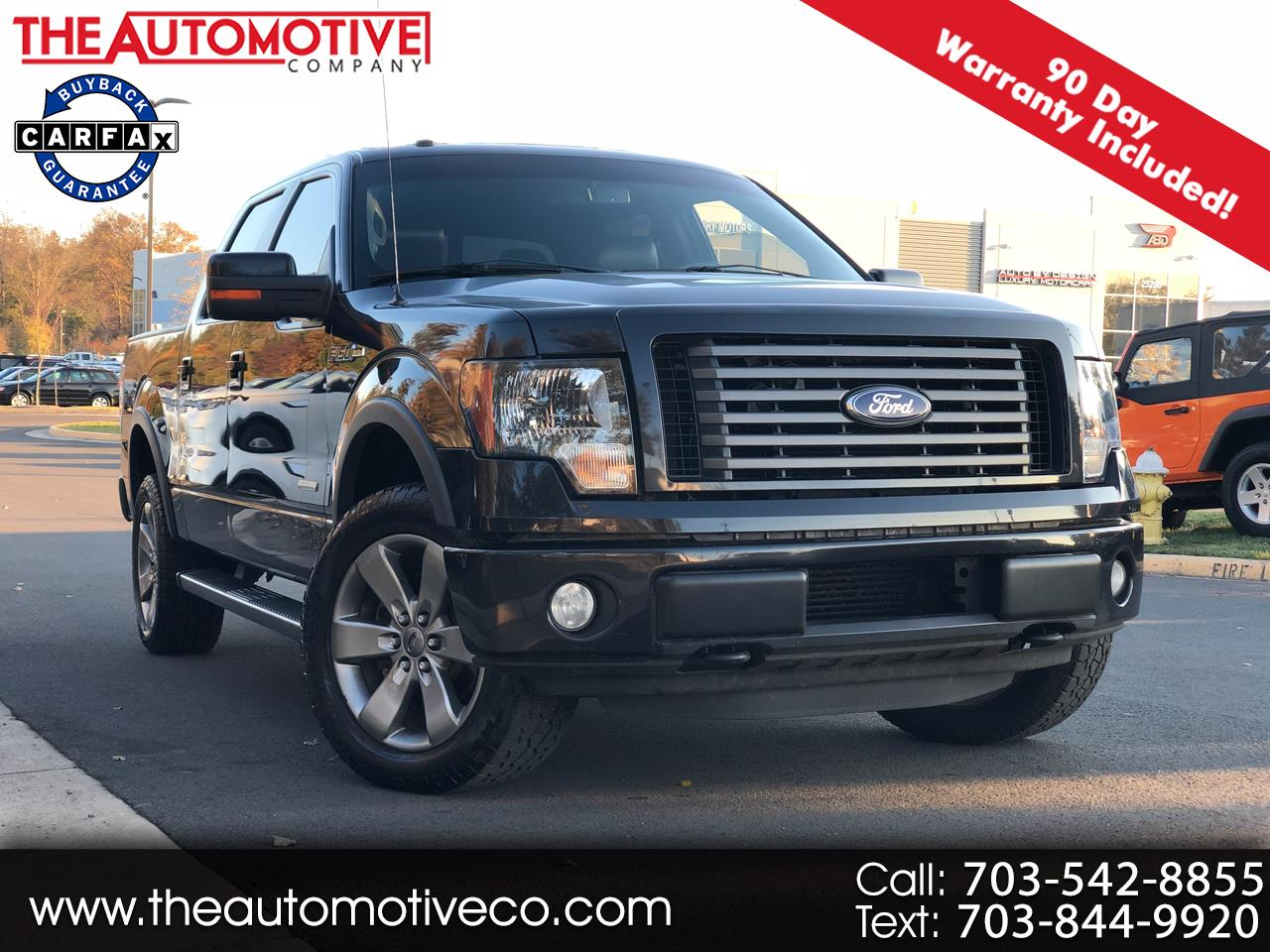 "2012 Ford F-150 4WD SuperCrew 145"" FX4"