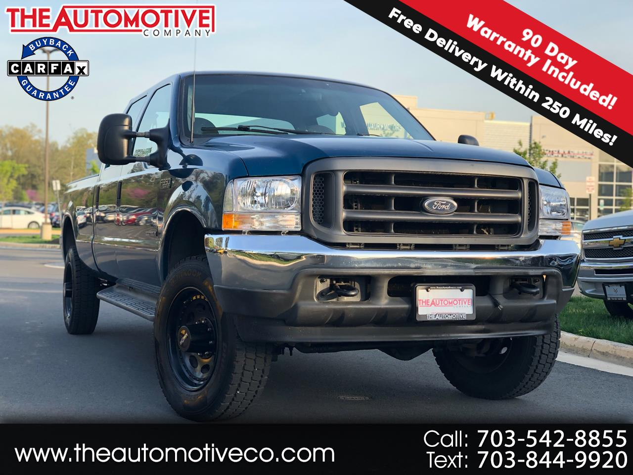 "2001 Ford Super Duty F-350 SRW Crew Cab 156"" XL 4WD"