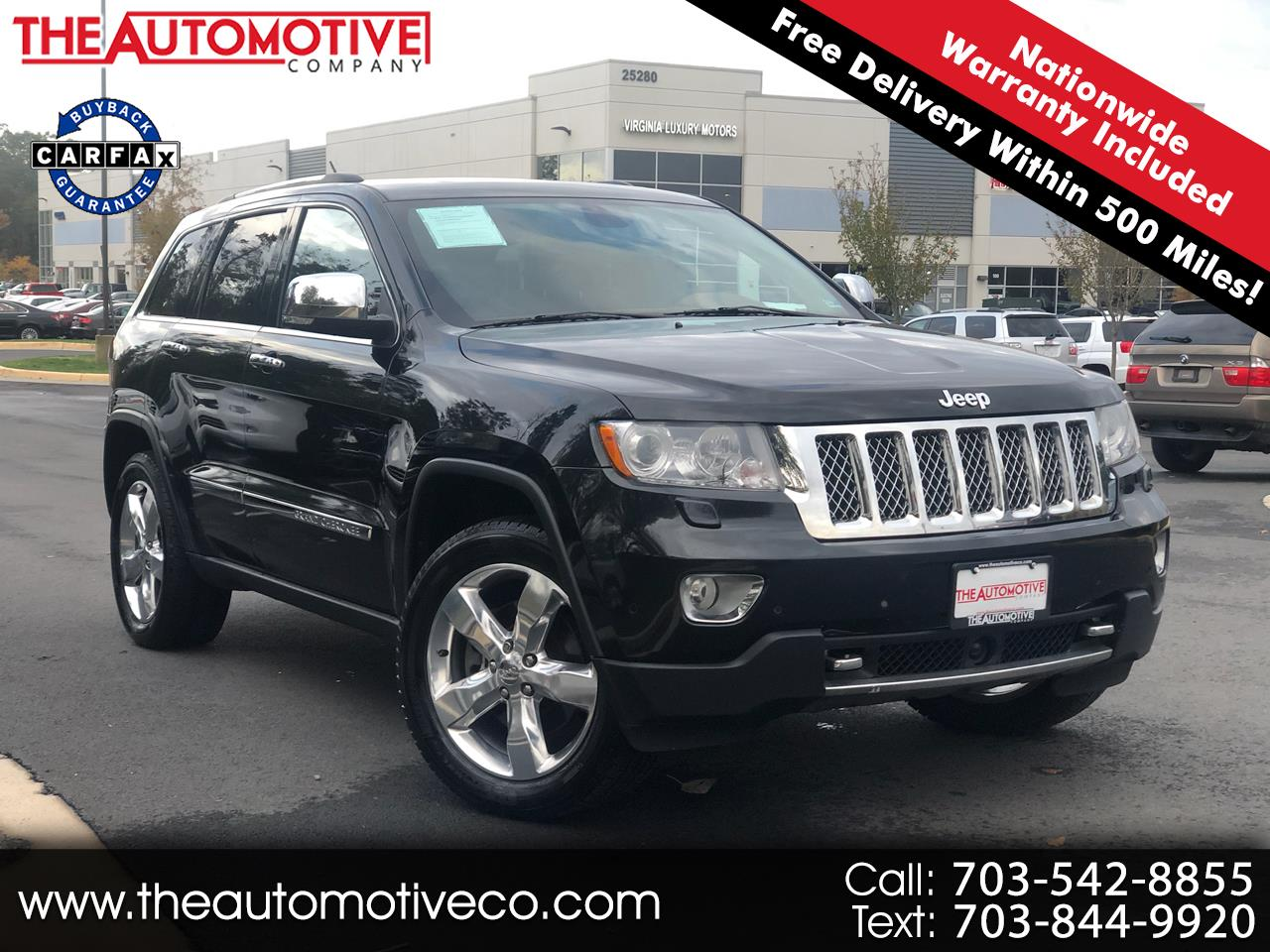 Jeep Grand Cherokee 4WD 4dr Overland Summit 2013