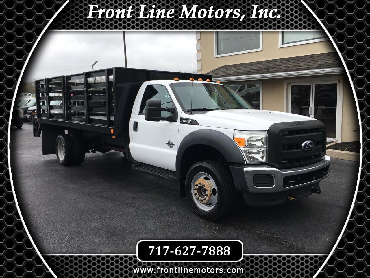"2011 Ford Super Duty F-550 DRW 4WD Reg Cab 201"" WB 120"" CA XL"