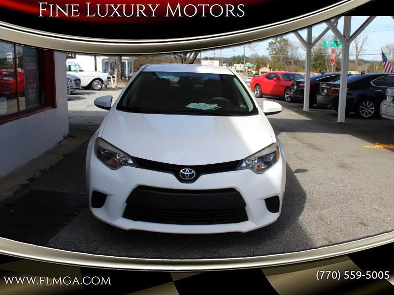 Toyota Corolla LE Plus CVT 2014