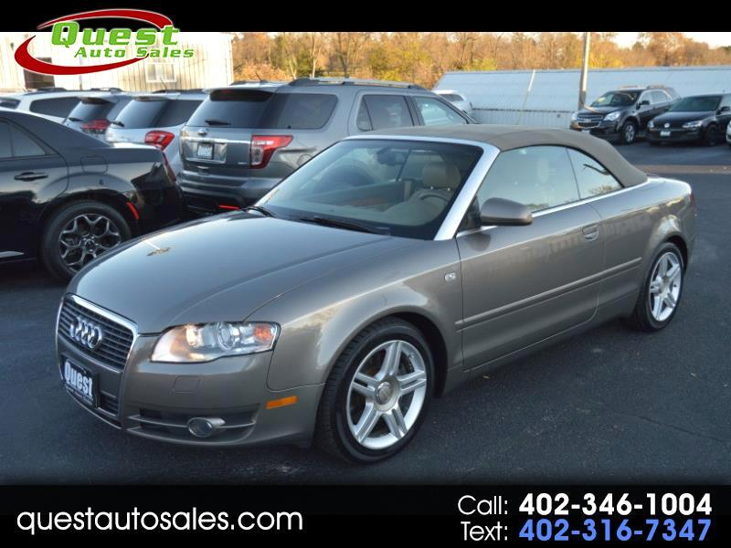 2008 Audi A4 2.0T Cabriolet with Multitronic