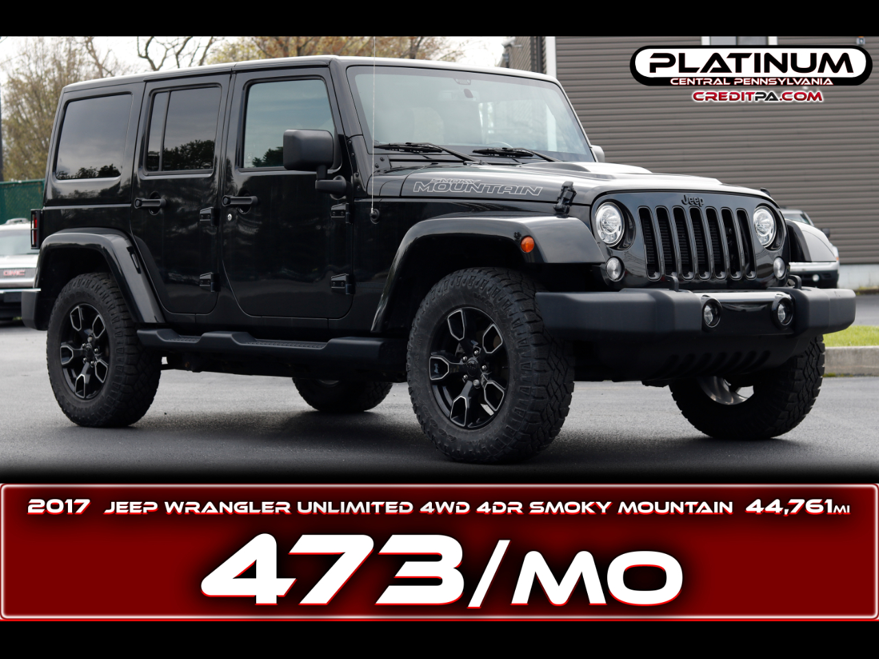 Jeep Wrangler Unlimited 4WD 4dr Smoky Mountain *Ltd Avail* 2017