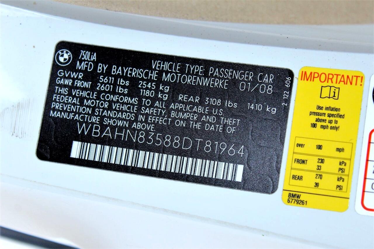 2008 BMW 7 Series 4dr Sdn 750Li