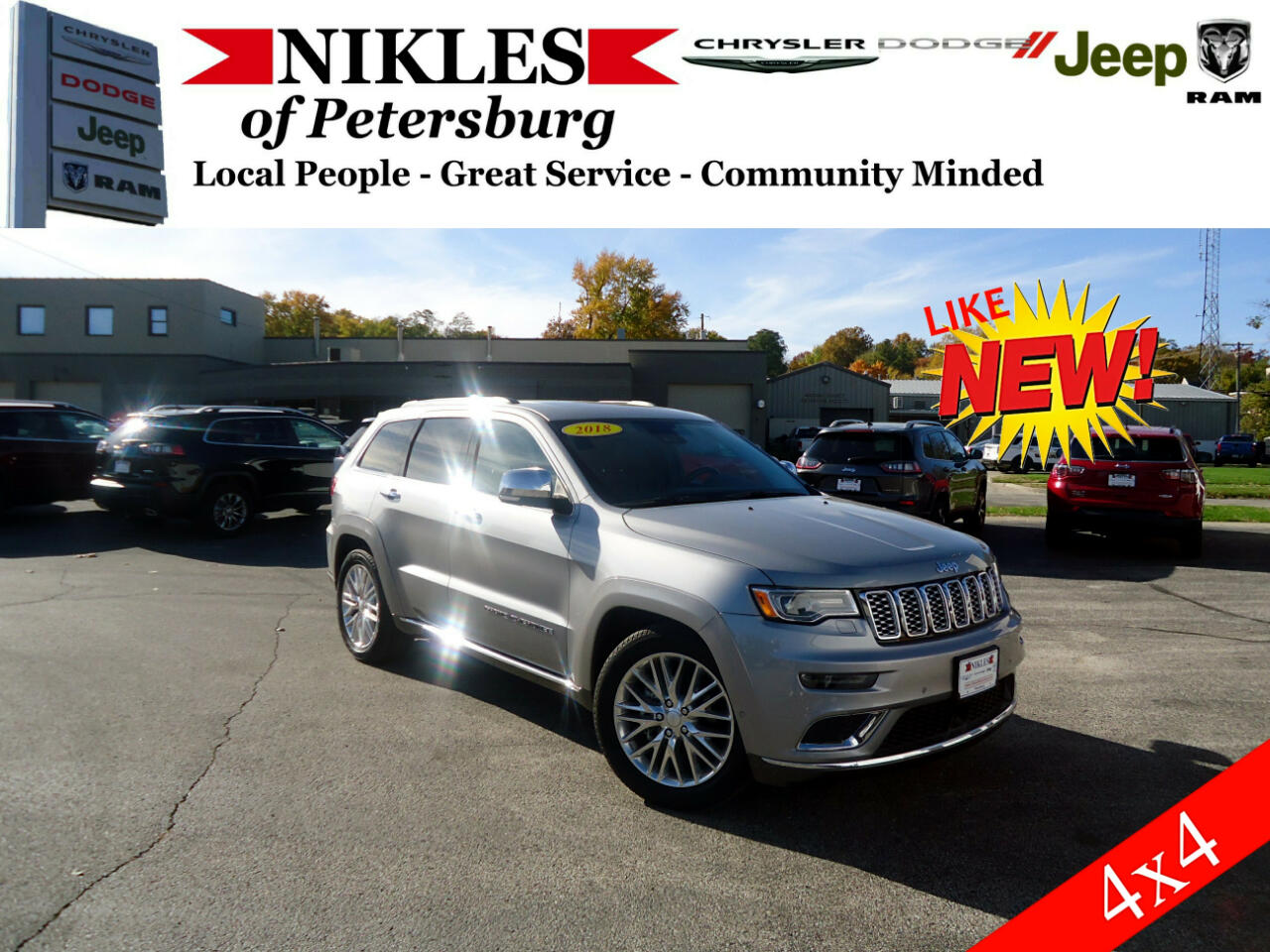 2018 Jeep Grand Cherokee 4WD 4dr Summit