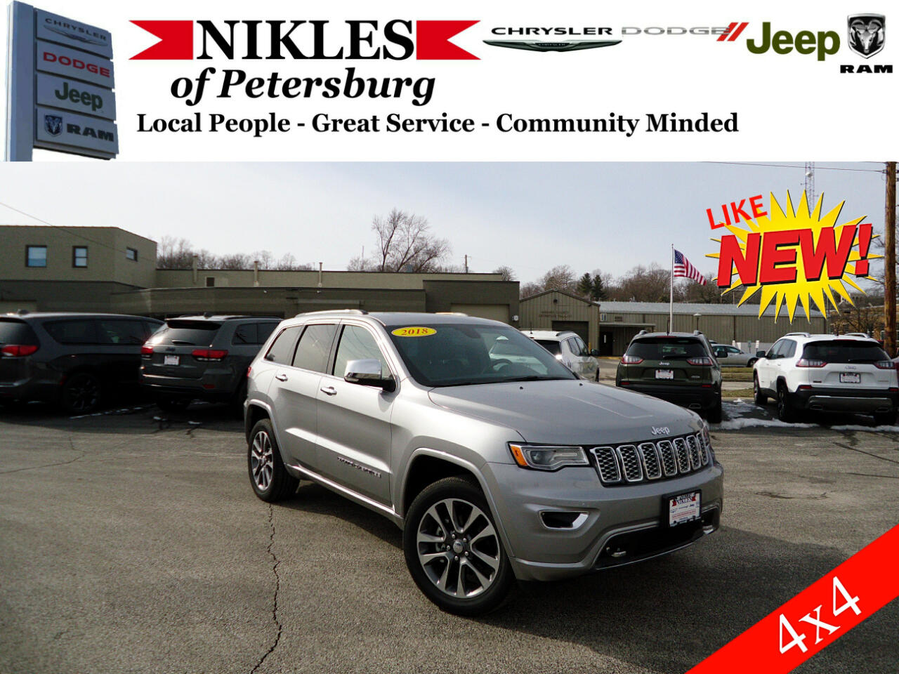 2018 Jeep Grand Cherokee 4dr Overland 4WD
