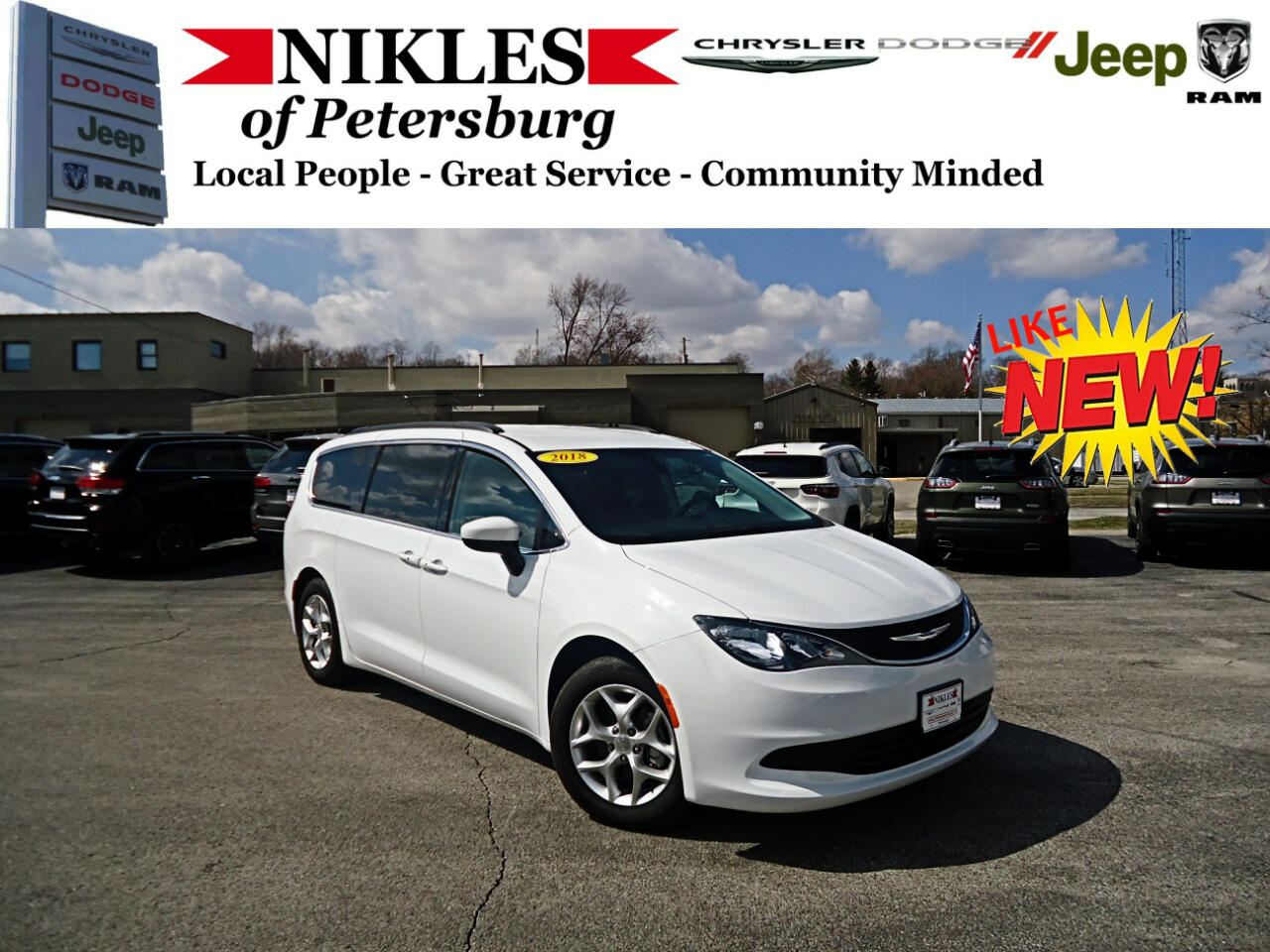 2018 Chrysler Pacifica 4dr Wgn Touring FWD