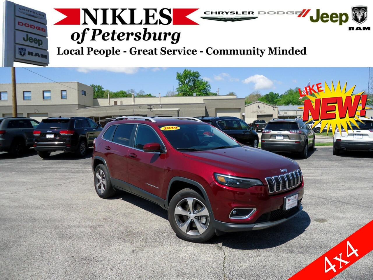 2019 Jeep Cherokee 4dr Limited 4WD