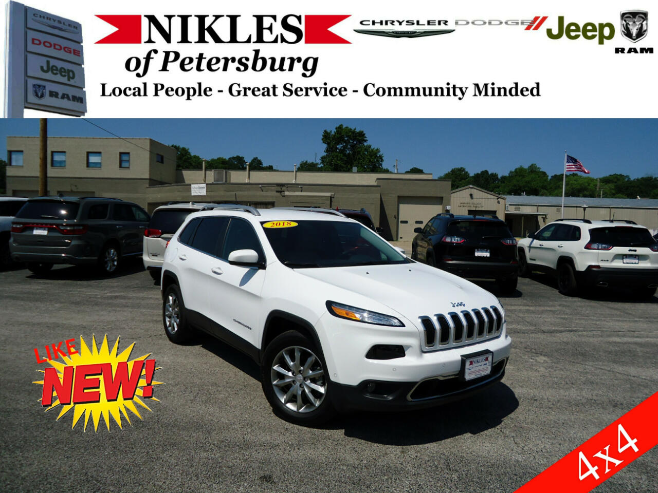 2018 Jeep Cherokee 4dr Limited 4WD