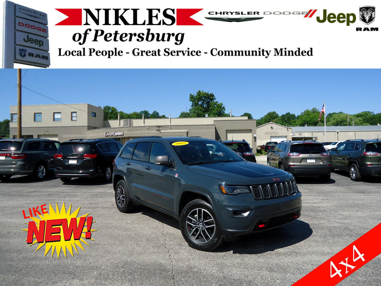 2018 Jeep Grand Cherokee 4WD 4dr Trailhawk