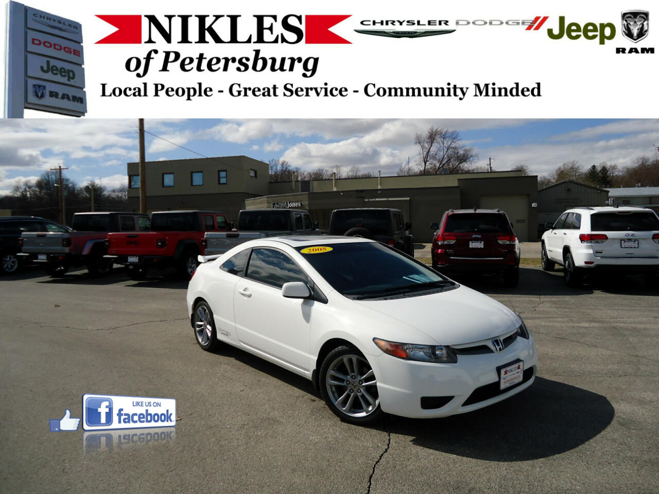 Honda Civic Cpe 2dr Man Si 2008