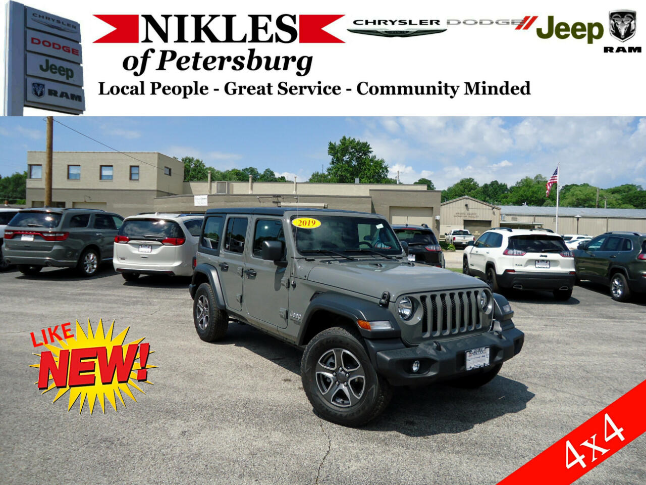 Jeep Wrangler Unlimited 4WD 4dr Sport 2019