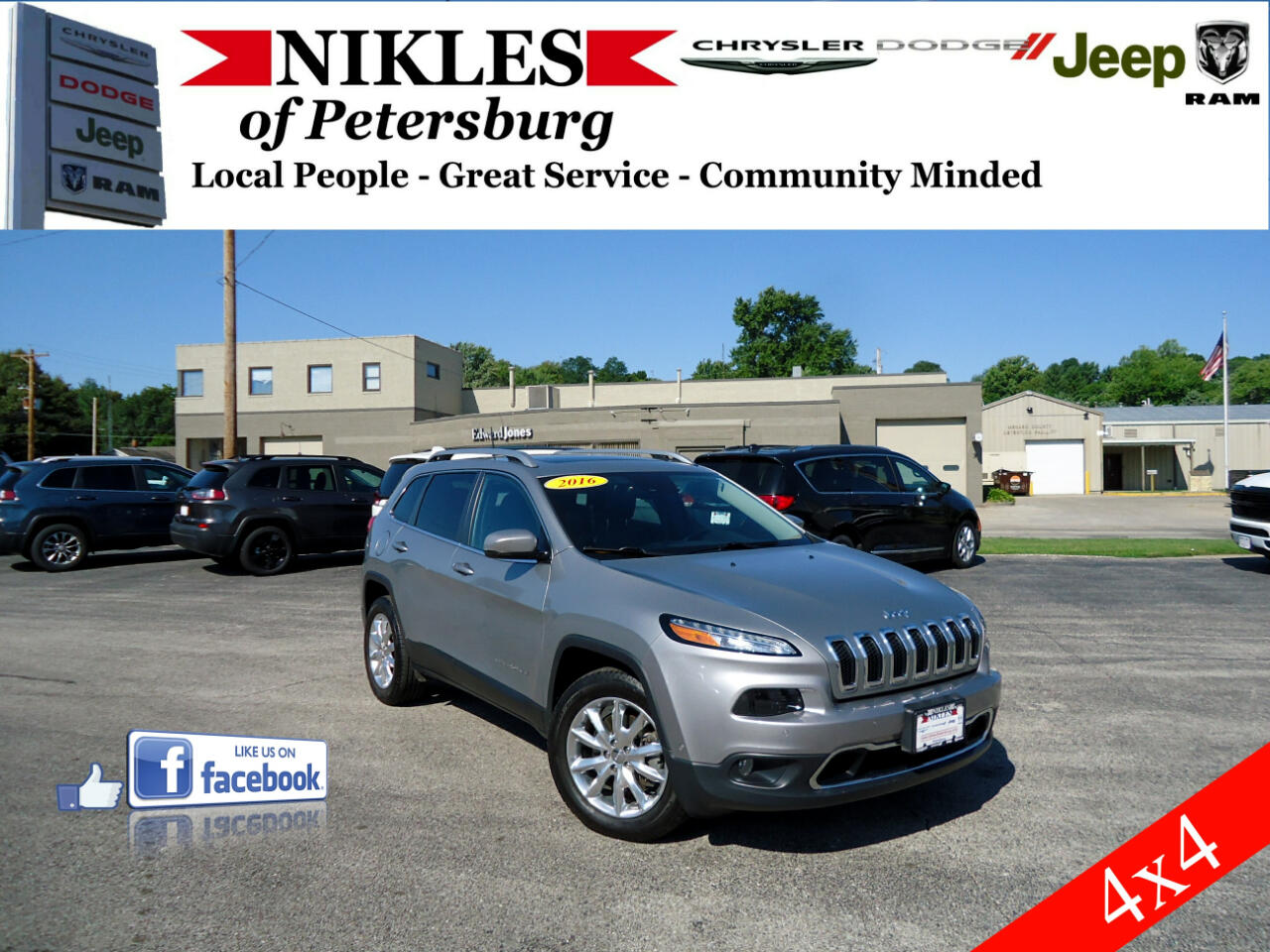 Jeep Cherokee 4dr Limited 4WD 2016