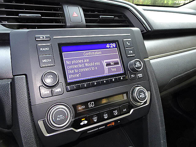 2016 Honda Civic LX Sedan CVT Back Up Camera XM BT