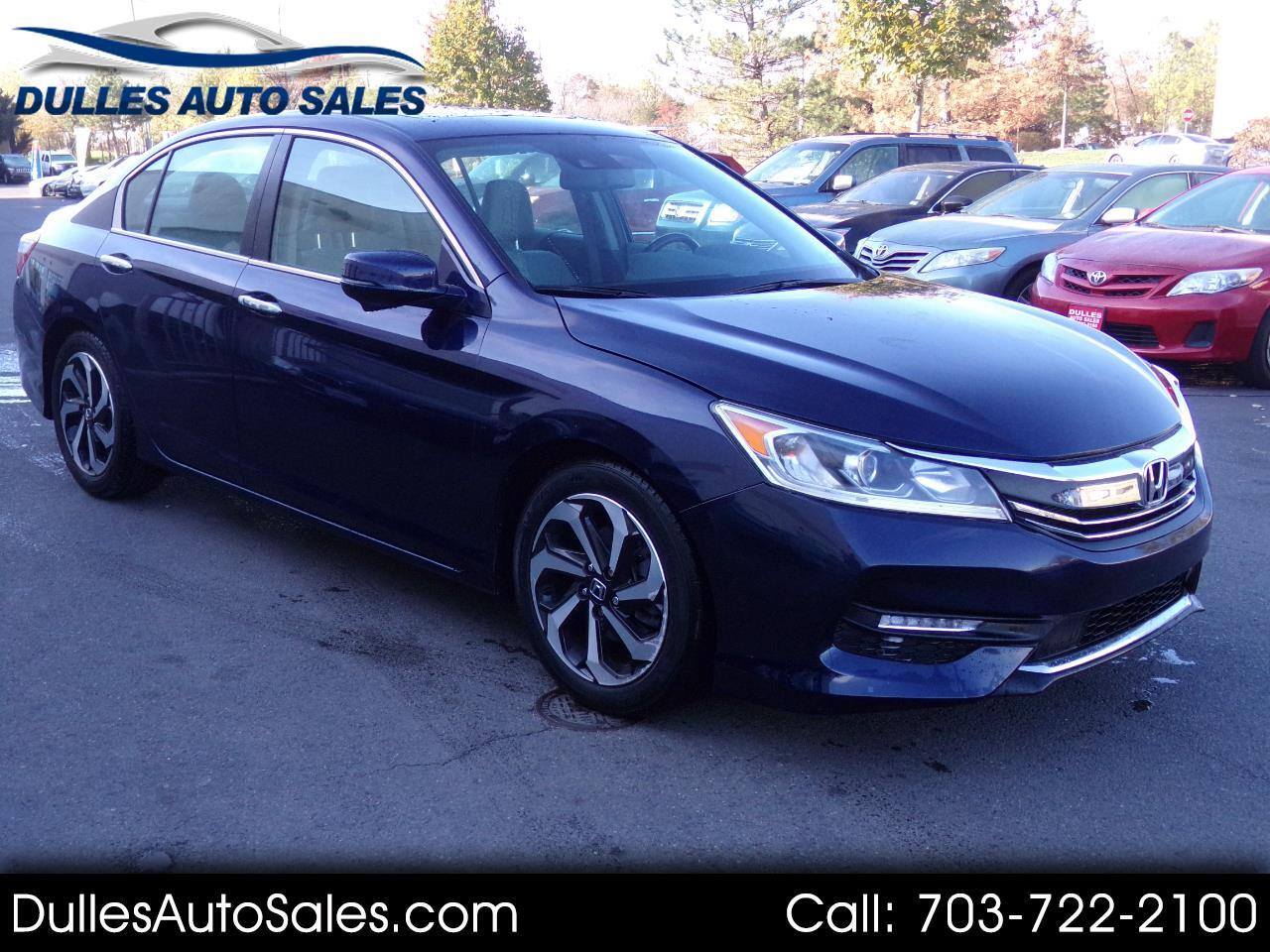 2016 Honda Accord EX-L Sedan with Navigation System and XM Radio