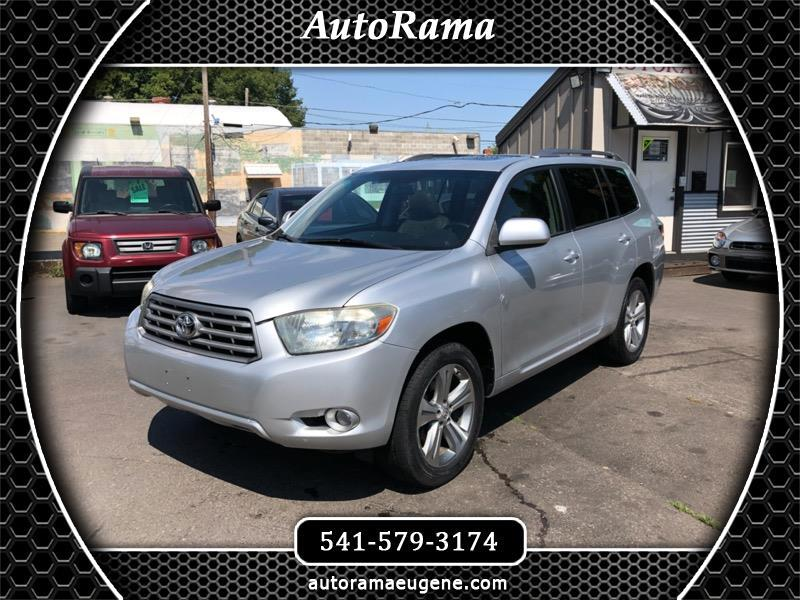 2008 Toyota Highlander SPORT 4WD - LOW MILES - LEATHER - 3RD ROW