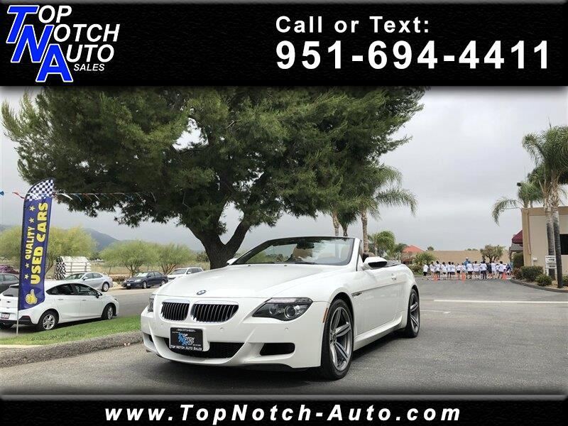 2008 BMW 6 Series 2dr Conv M6