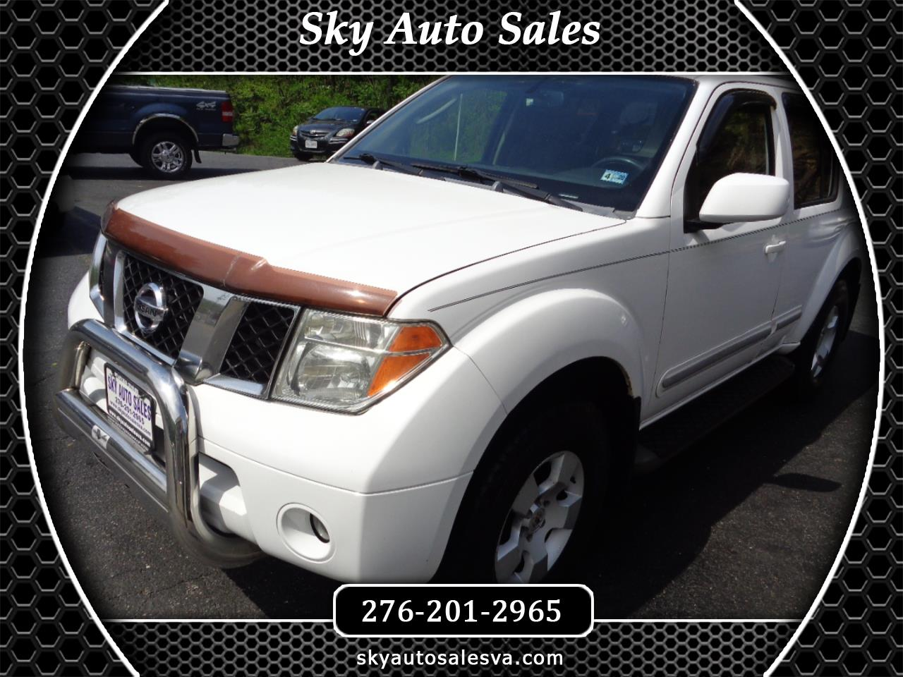 Sky Auto Sales >> Used 2005 Nissan Pathfinder Xe 4wd For Sale In Martinsville