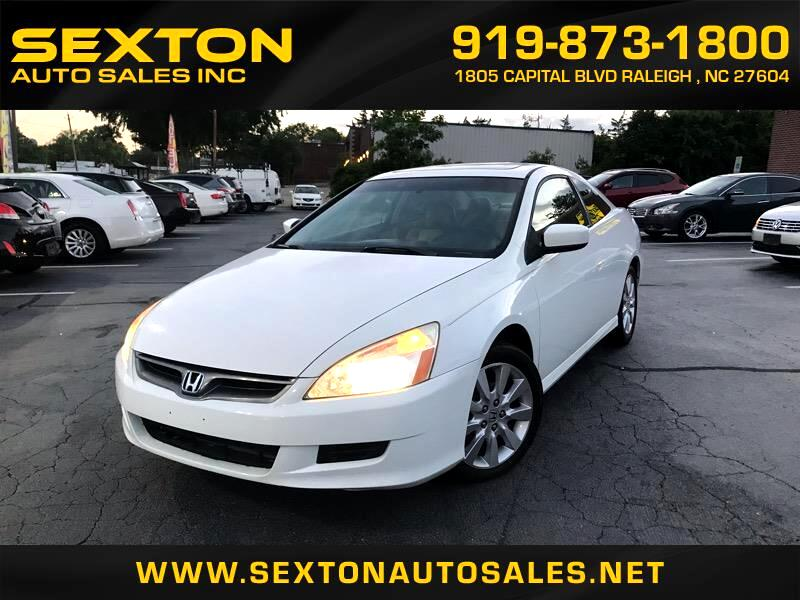 2007 Honda Accord 2dr Coupe Auto EX w/Leather