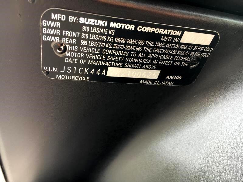 2008 Suzuki AN400