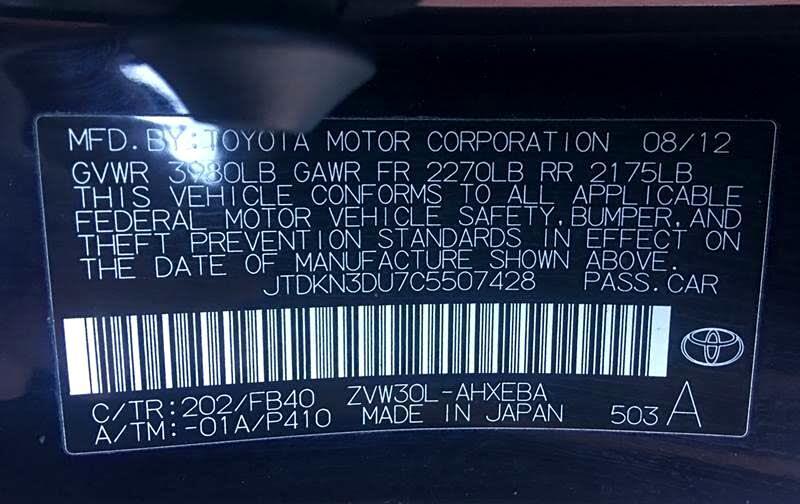 2012 Toyota Prius Prius V