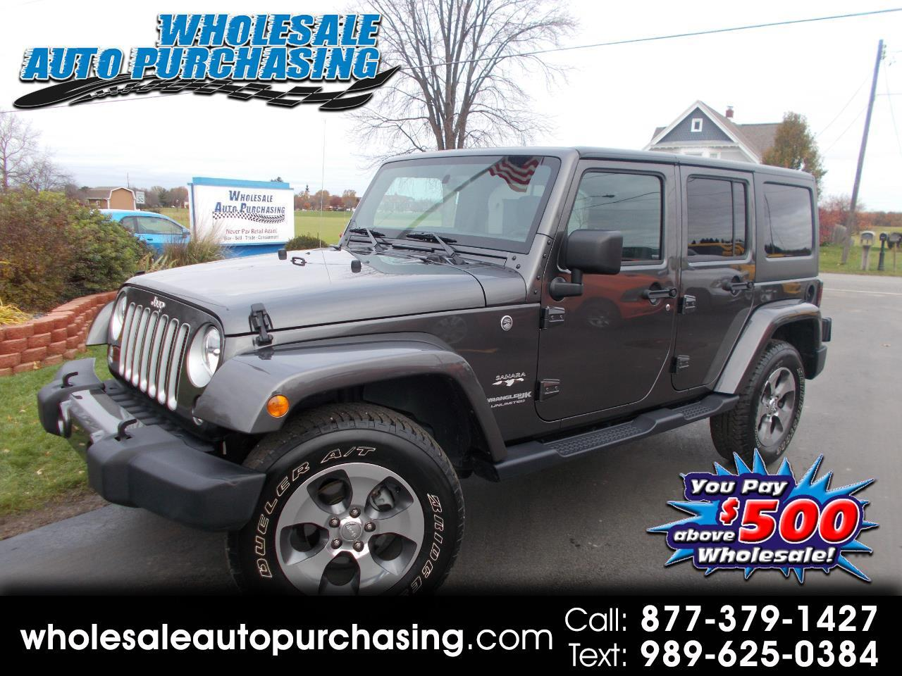 2018 Jeep Wrangler JK Unlimited Sahara 4WD