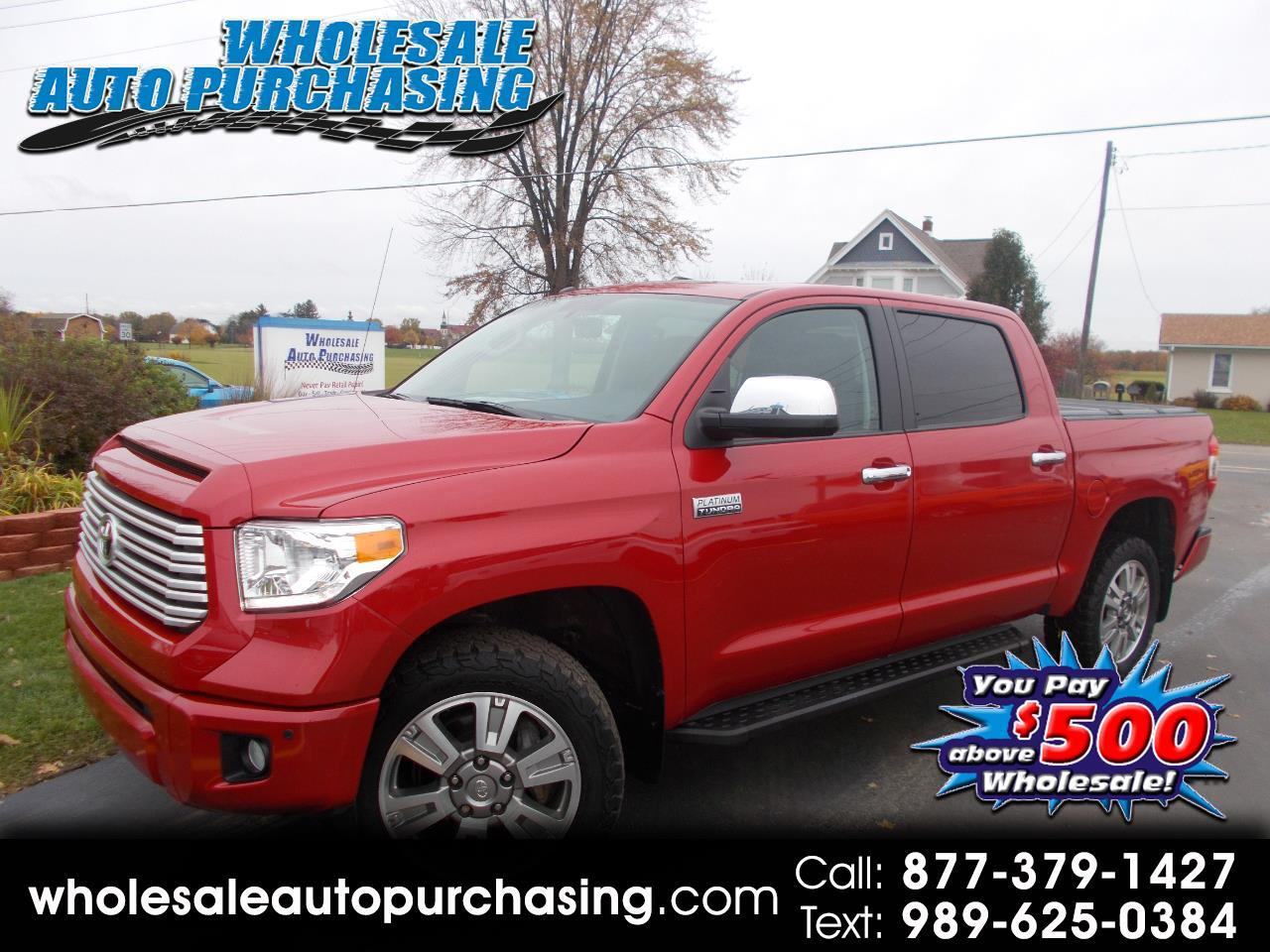 2016 Toyota Tundra CrewMax 5.7L V8 6-Spd AT Platinum (Natl)