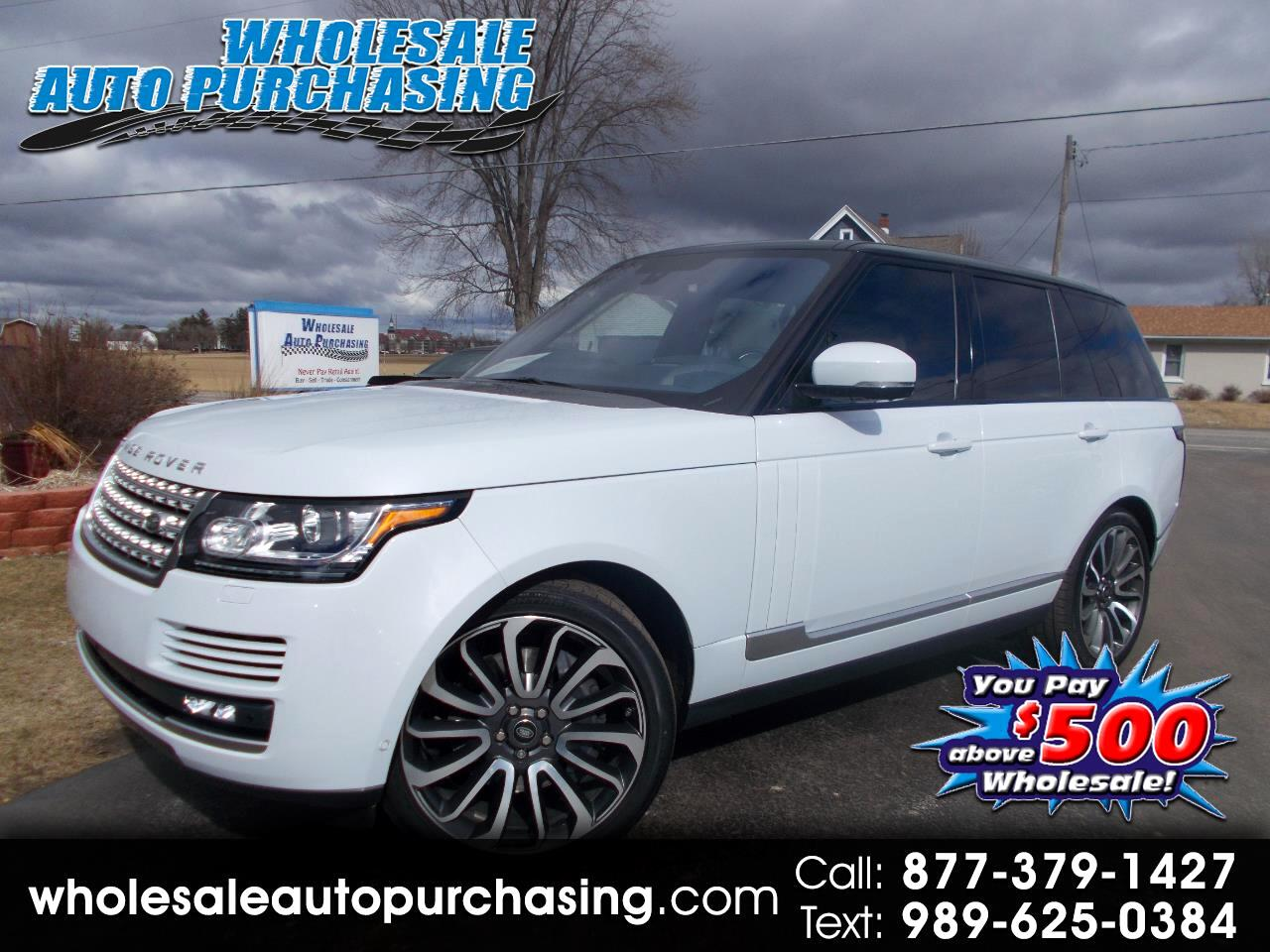 2016 Land Rover Range Rover 4WD 4dr Supercharged