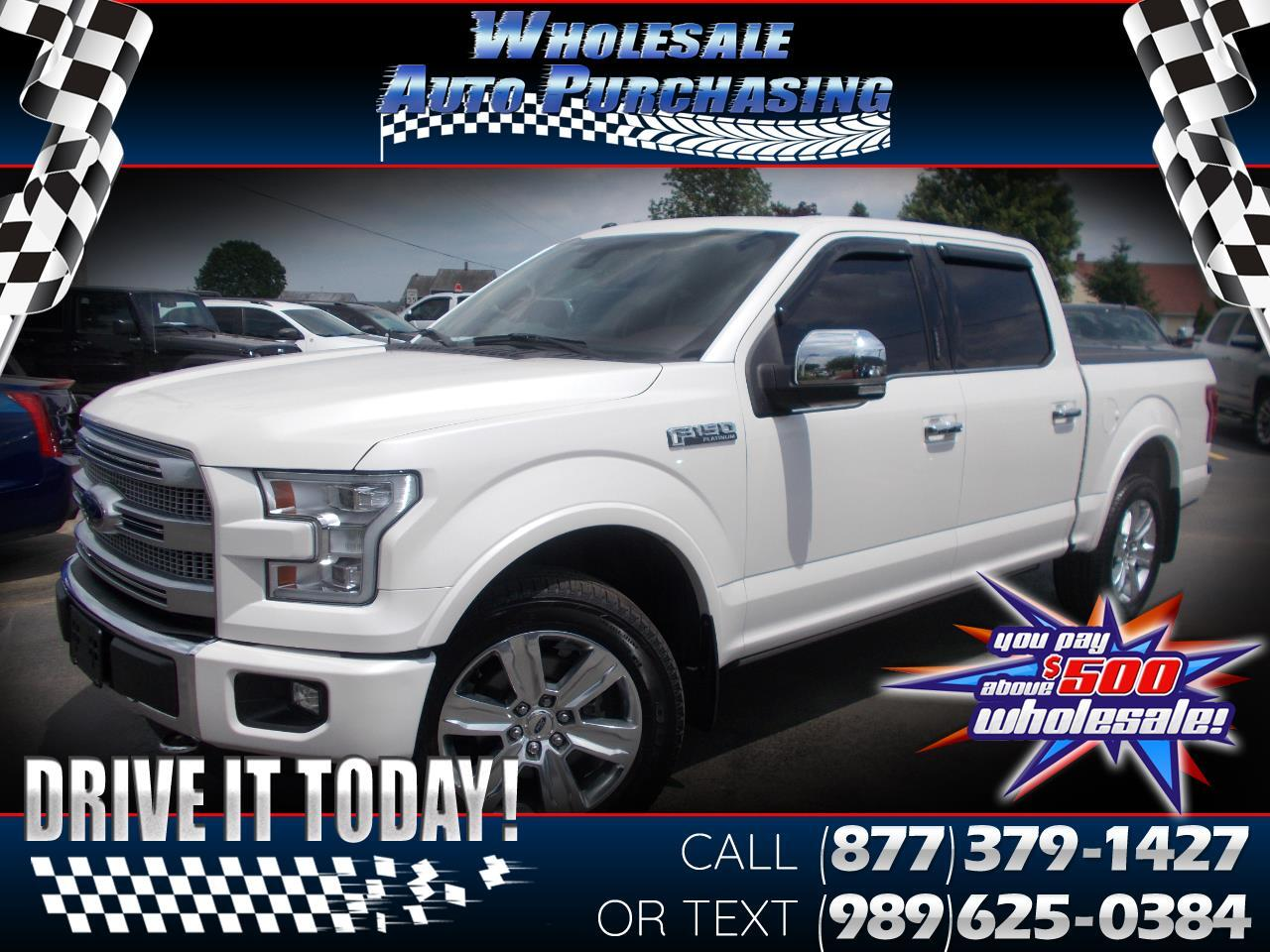 2017 Ford F-150 Platinum 4WD SuperCrew 5.5' Box
