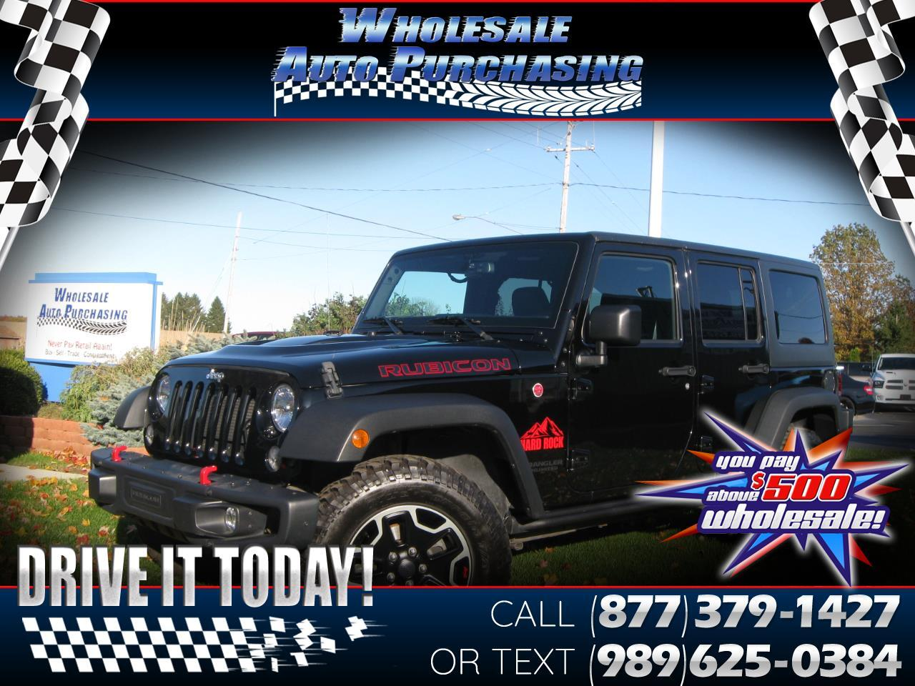 2017 Jeep Wrangler Unlimited 4WD 4dr Rubicon Hard Rock *Ltd Avail*